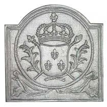 Plaque fonte Armes de France 40 x 40 cm
