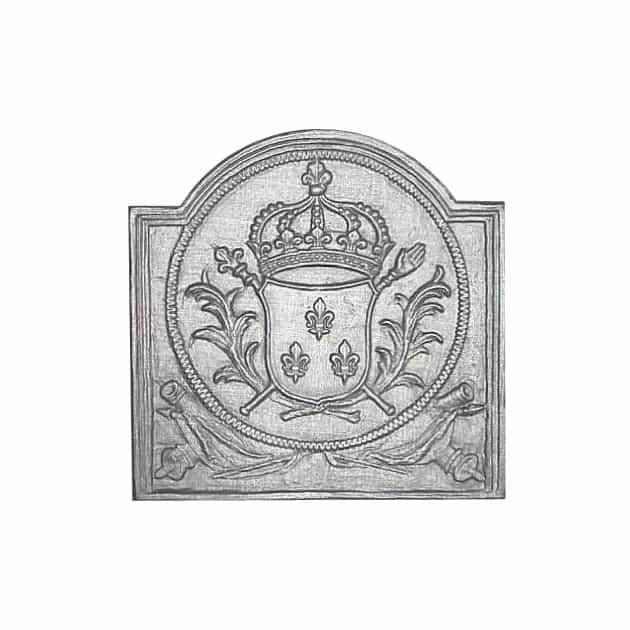 Plaque fonte Armes de France 40 x 40 cm