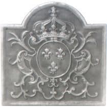 Plaque fonte 3 Fleurs de lys de pamiers 47 x 47 cm