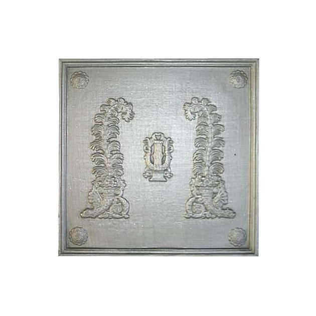 Plaque fonte La lyre 48 x 48 cm