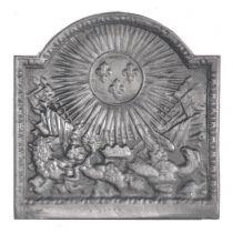 Plaque fonte Le soleil royal 46 x 46 cm