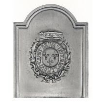 Plaque fonte Armes de Brive 44 x 55 cm