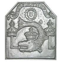 Plaque fonte Neptune 46 x 46 cm