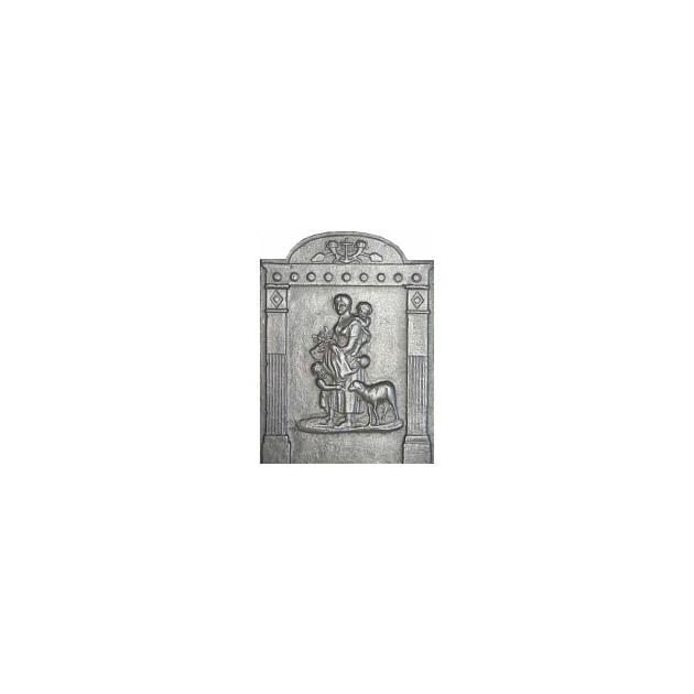 Plaque fonte La bonne bergère 42 x 56 cm
