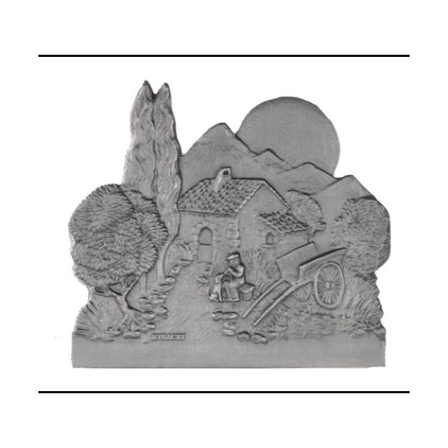 Plaque fonte Vieux berger 60 x 50 cm