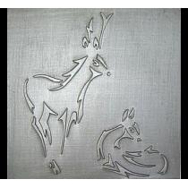 Plaque fonte Le cerf & la biche 50 x 50 cm