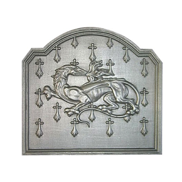 Plaque fonte La salamandre 54 x 40 cm