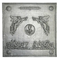 Plaque fonte Empire 50 x 50 cm