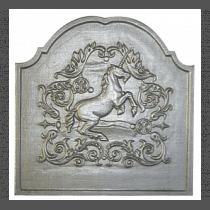 Plaque fonte Licorne 50 x 50 cm