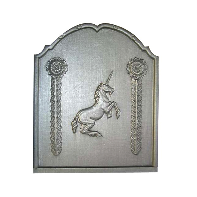 Plaque fonte Licorne simple 50 x 60 cm