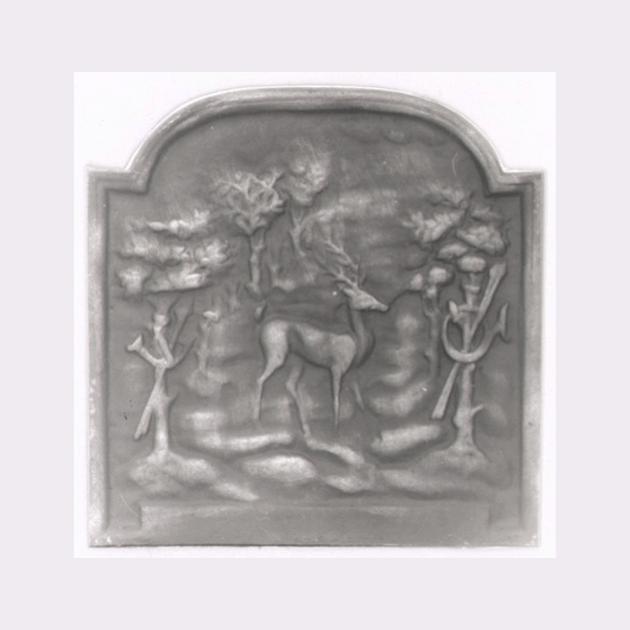 Plaque fonte Dans la foret 50 x50 cm