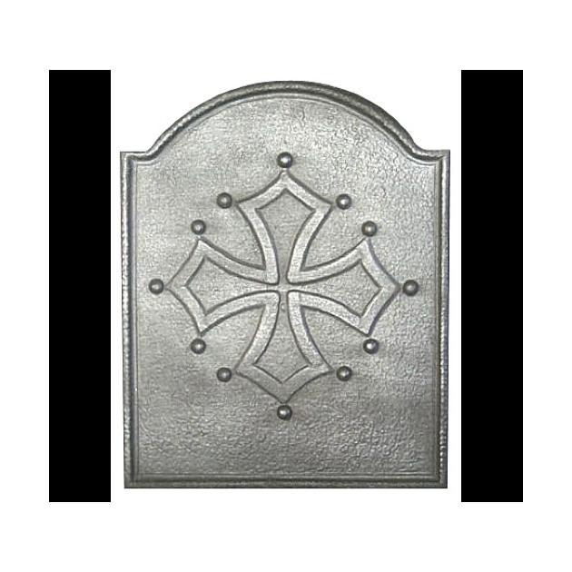 Plaque fonte Croix du languedoc 55 x 68 cm