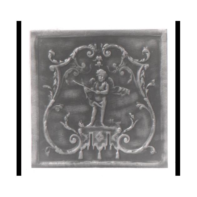 Plaque fonte Cupidon 56 x 57 cm