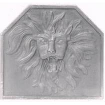 Plaque fonte Tete de lion 54 x 49 cm