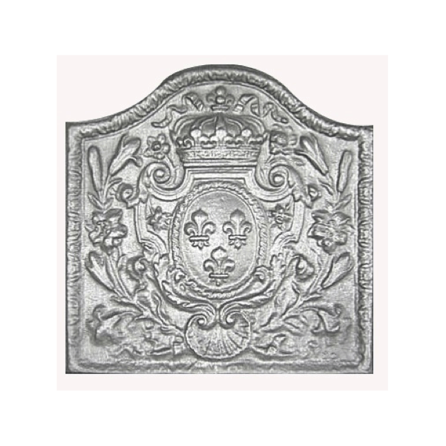 Plaque fonte Armes de France 53 x 53 cm