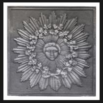 Plaque fonte Helios 57 x 57 cm