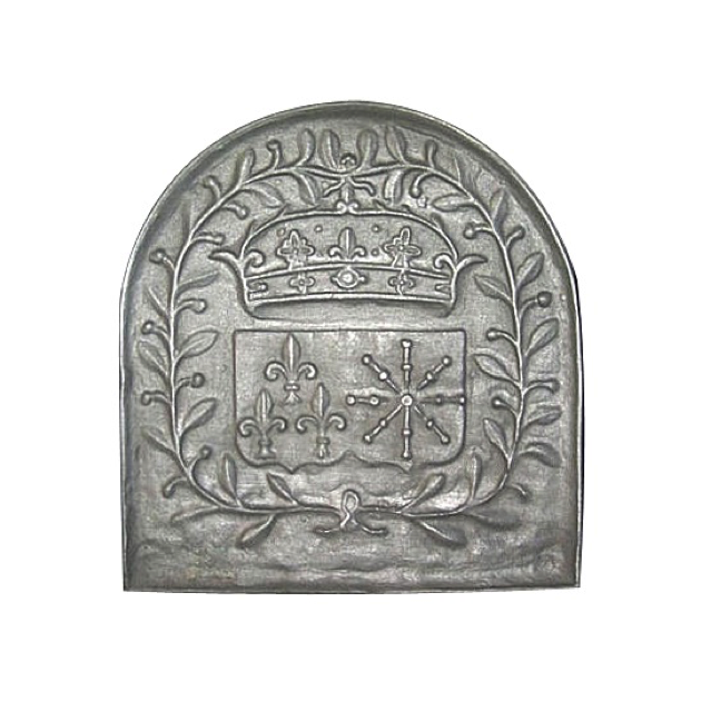 Plaque fonte Armes de France 59 x 63 cm