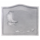 Plaque fonte Bateau coquillage 58 x 49 cm