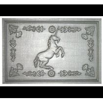 Plaque fonte Licorne ornee 60 x 40 cm