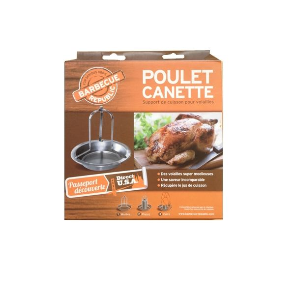 Support poulet canette barbecue republic - Poulet au barbecue weber ...