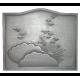 Plaque fonte Le crepuscule 60 x 50 cm