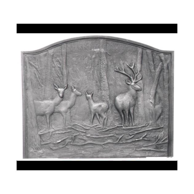 Plaque fonte Les biches 67 x 55 cm