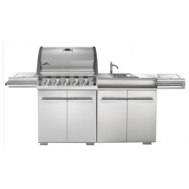 Barbecue gaz Napoleon LE3 infrarouge 485 + Evier