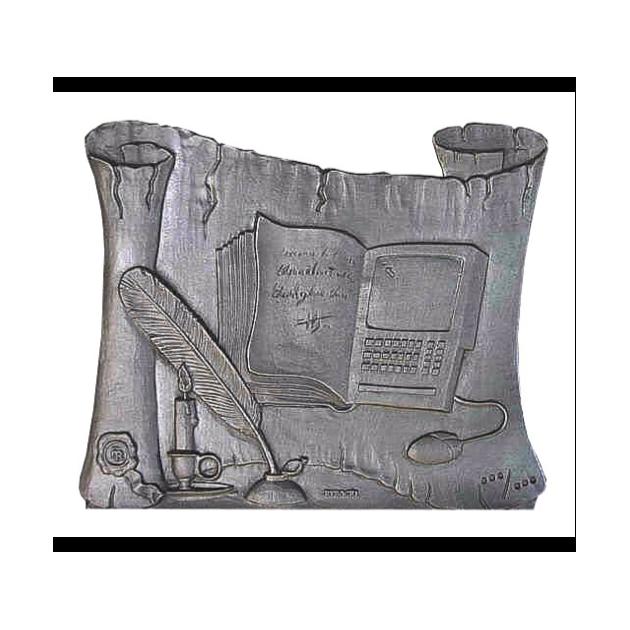 Plaque fonte Parchemin de l'histoire 60 x 50 cm