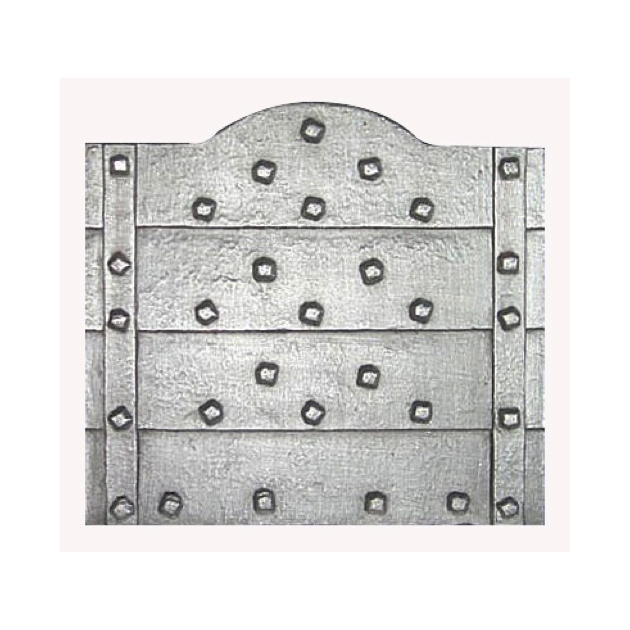 Plaque fonte Les clous sans anneaux 66 x 65 cm