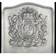 Plaque fonte Blason 1713, 60 x 58 cm