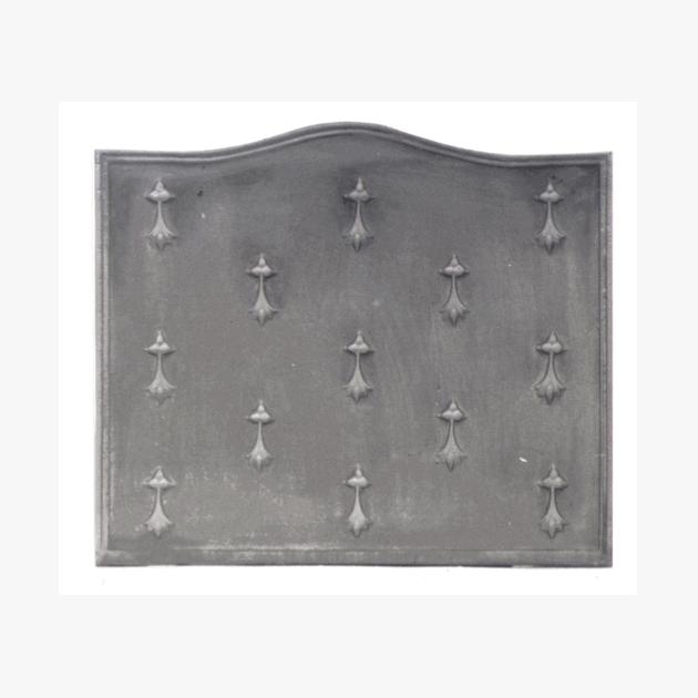Plaque fonte Les hermines 62 x 53 cm