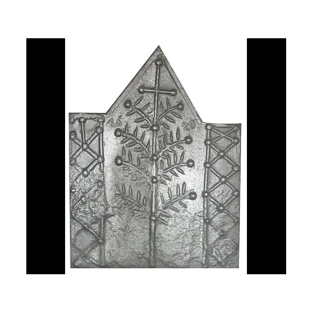 Plaque fonte Arbre a la croix 66 x 85 cm