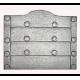 Plaque fonte Les clous sans anneaux 66 x 65cm