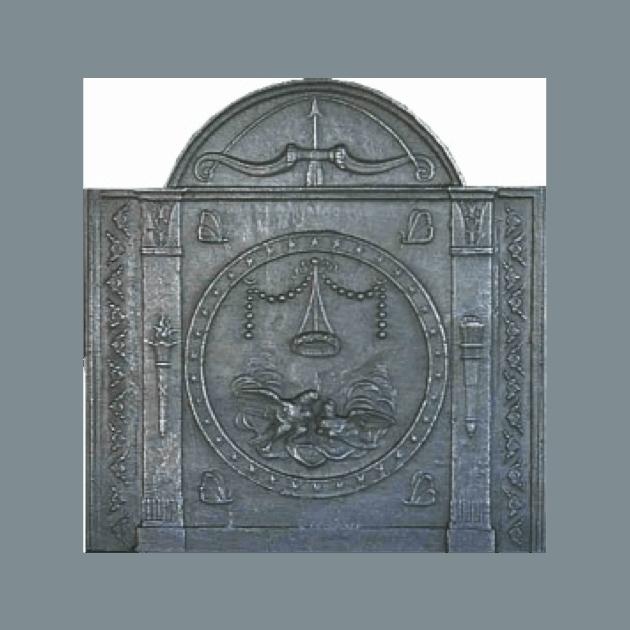 Plaque fonte Le nid 69 x 74 cm
