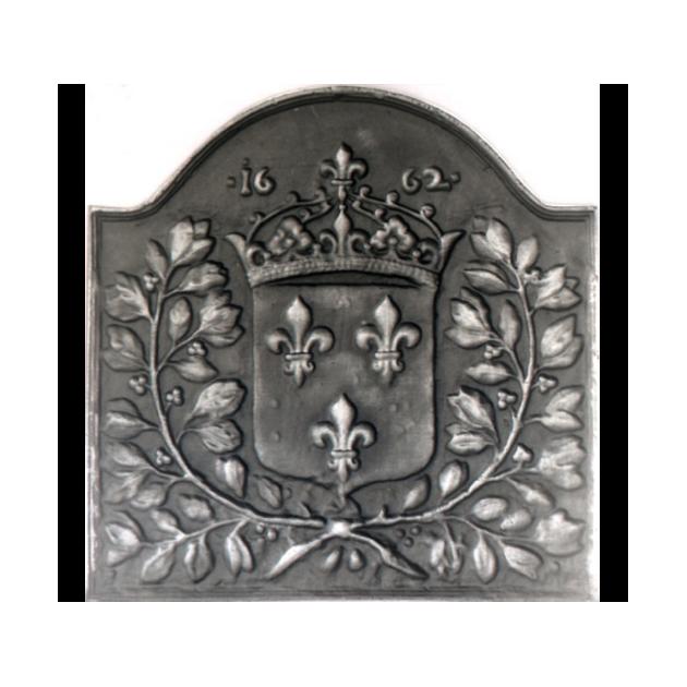 Plaque en fonte Lauriers 1662, 69 x 69 cm