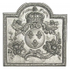 Plaque fonte Armes de France 65 x 65 cm