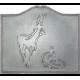 Plaque fonte Le cerf & la biche 70 x 60 cm