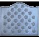 Plaque fonte Semis feuilles de lierre 70 x 60 cm