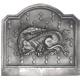 Plaque fonte Salamandre 70 x 65 cm