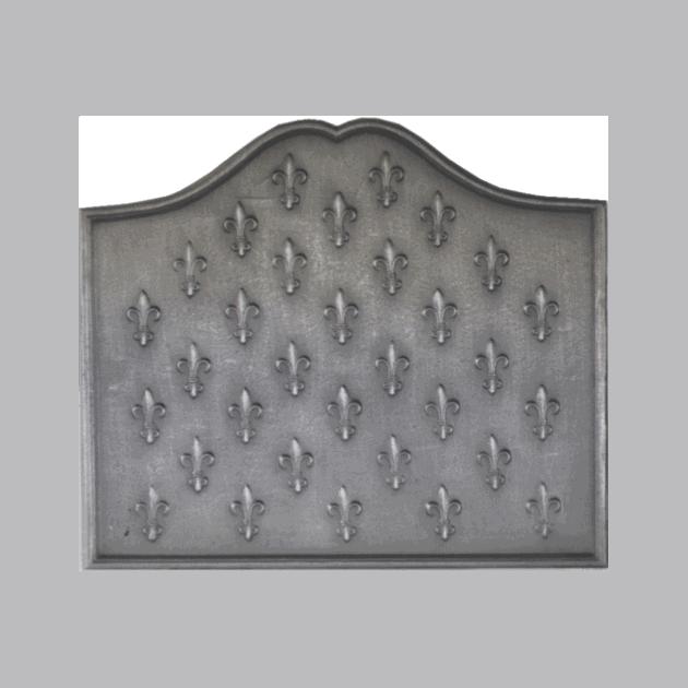 Plaque fonte Semis de lys 70 x 60 cm