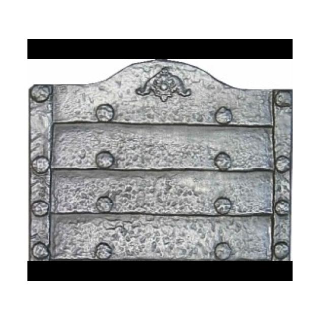 Plaque fonte Rustique sans anneaux 71 x 57 cm