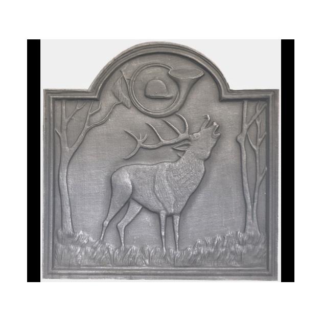Plaque fonte Le cerf au bois 72 x 75 cm