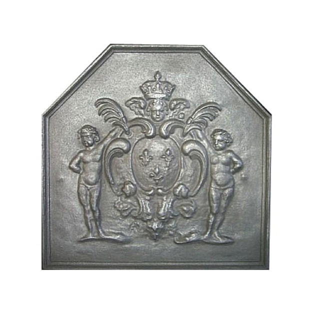 Plaque fonte Les amours de Louis XV 74 x 73 cm