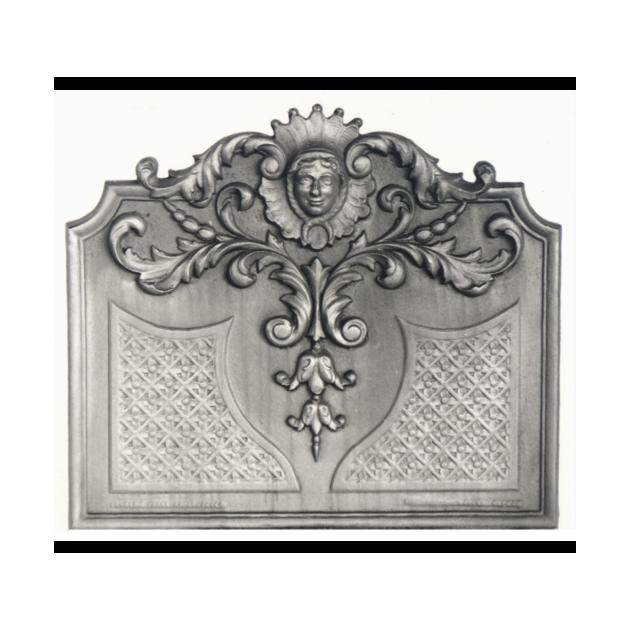 Plaque fonte Louis XIV soleil 77 x 68 cm
