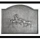 Plaque fonte Chevaux sauvages 80 x 64 cm
