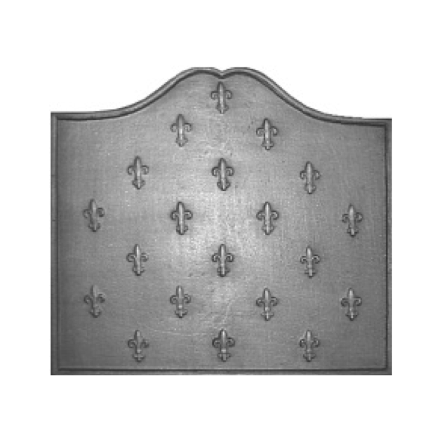 Plaque fonte Semis de lys 80 x 72 cm