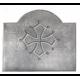 Plaque fonte Croix du languedoc 80 x 67 cm