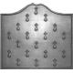 Plaque fonte Semis d'hermines 80 x 72 cm