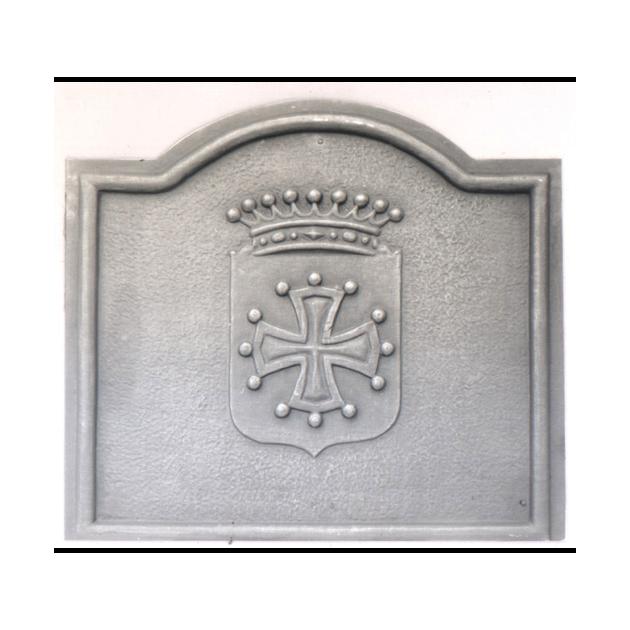 Plaque fonte Croix du languedoc 80 x 70 cm