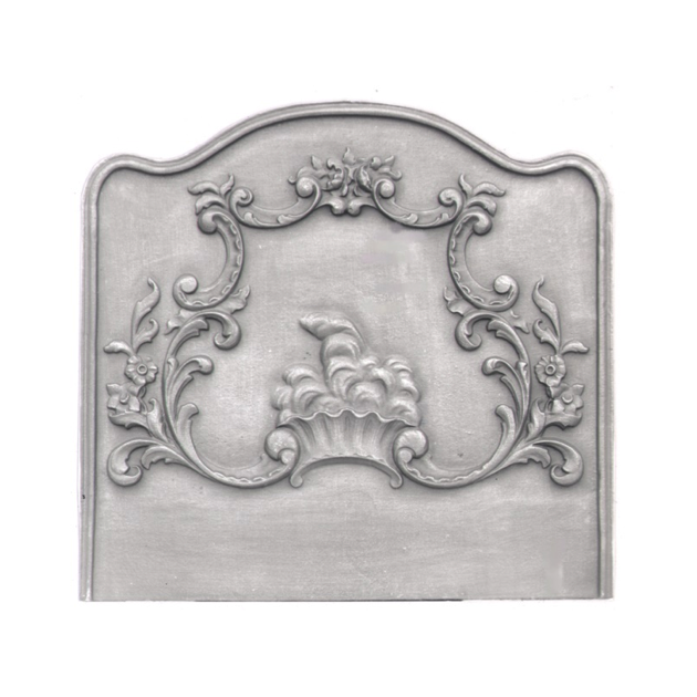 Plaque fonte Fresque Louis XV 80 x 74 cm
